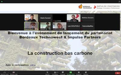 Impulse Partners et Bordeaux Technowest : un partenariat qui démarre fort